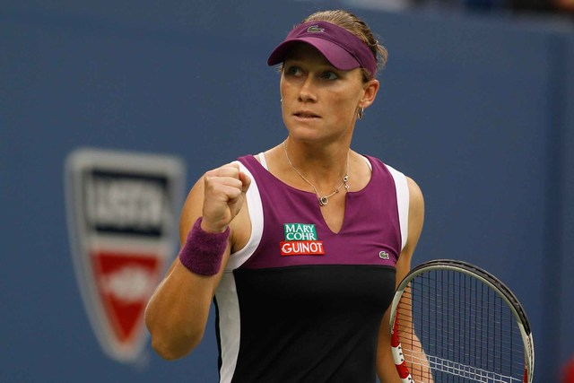 Samantha Stosur in action during the 2011 women's singles final.